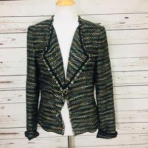 Ann Taylor Loft Tweed Open Blazer size 2